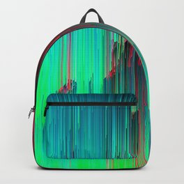 Just Chillin' - Abstract Neon Glitch Pixel Art Backpack