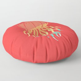 Jellyfish jelly Sweet Medusa Lover Vintage Retro Floor Pillow