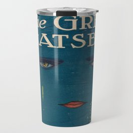 The Great Gatsby vintage book cover - Fitzgerald - muted tones Travel Mug