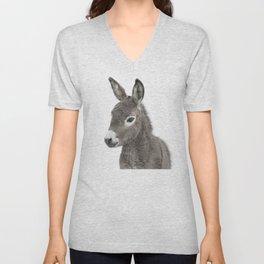 Baby Donkey Unisex V-Neck