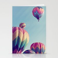 nietzsche Stationery Cards featuring the higher we soar by shannonblue
