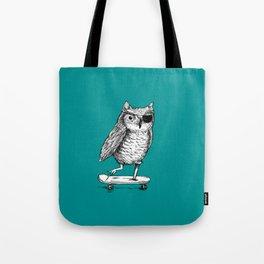 Ride On Owl_teal Tote Bag