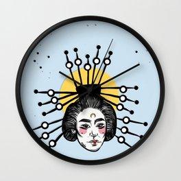 Asian Girl Wall Clock