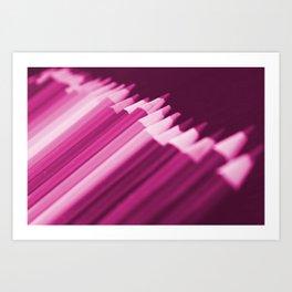 Pink Pencils Art Print