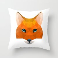mr fox Throw Pillows featuring Mr Fox by MrWhite
