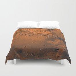 Valles Marineris, Mars Duvet Cover