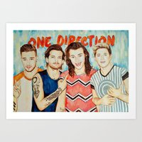 One Direction, Louis, Niall, Liam, Harry, Singer Art Print