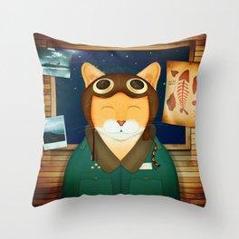 Aviator Cat Throw Pillow