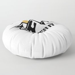 Its Just A Hill Get Over It bw Floor Pillow