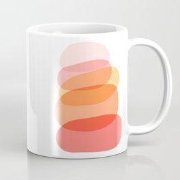 Abstract Organic Shape Tower in Warm Colors Coffee Mug