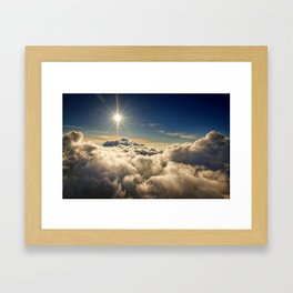clouds (Above The Heavenly Clouds) Framed Art Print