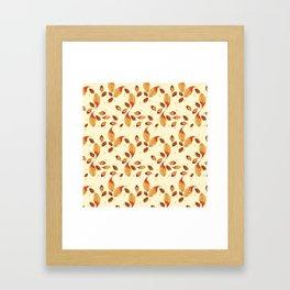 Scattered Autumn Leaves Framed Art Print