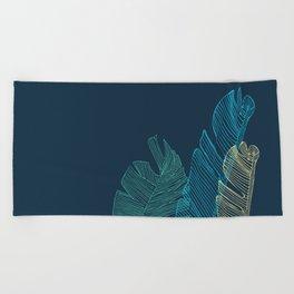 Banana Leaf Trio - Blue Beach Towel