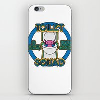 toilet iPhone & iPod Skins featuring Toilet Squad by Justin Kedl
