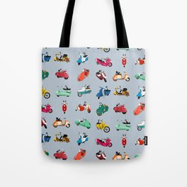 Boogie On Scooters Tote Bag
