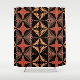 Warm Quilt Pattern Shower Curtain