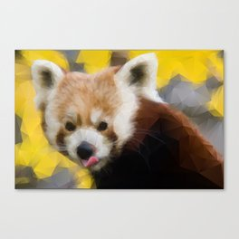 Red Panda in Triangles Canvas Print