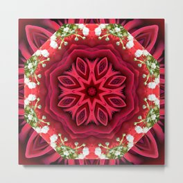 Rose Mandala - The Mandala Collection Metal Print