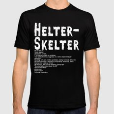 Helter Skelter (white on black) Mens Fitted Tee Black MEDIUM