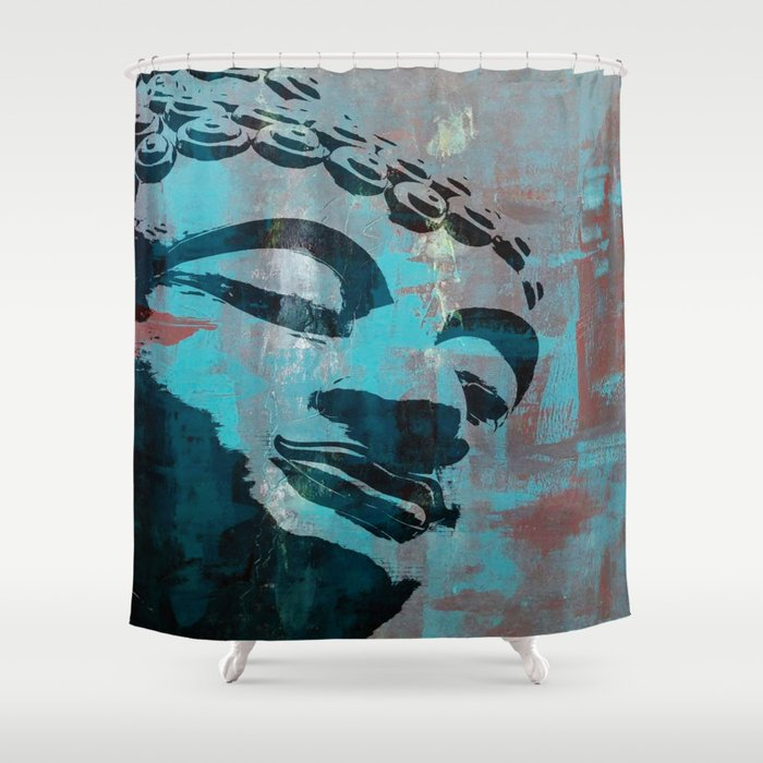 Art Deco Buddha Shower Curtain By Indigorayz