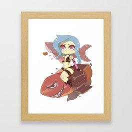 Jinx chibi Framed Art Print