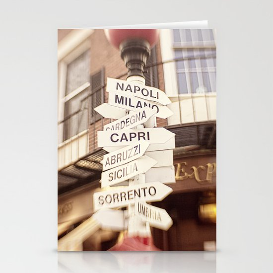 Lead me to Italy Stationery Cards