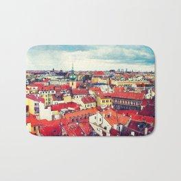 Prague panorame city Bath Mat