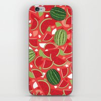 watermelon iPhone & iPod Skins featuring Watermelon by Ornaart