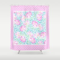 5 seconds of summer Shower Curtains featuring Summer Days 5 by Posh & Painterly