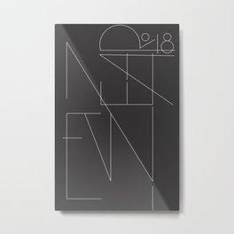 New Year Typo Black #society6 #decor #buyart Metal Print