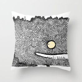Scribbly monster Throw Pillow