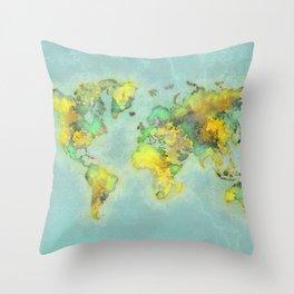 world map 112 #worldmap #world #map Throw Pillow