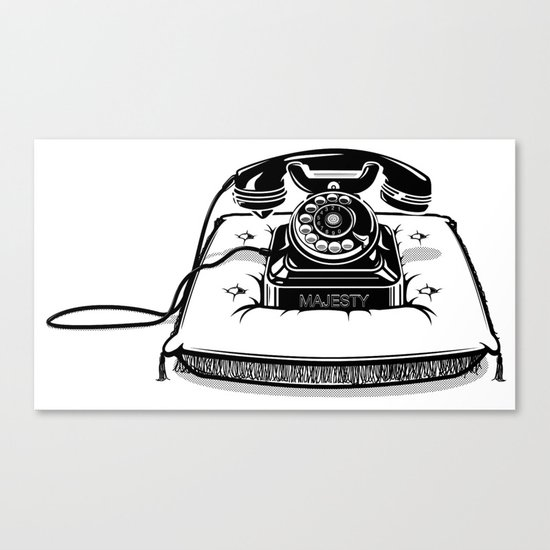 Phone on Cushion. Canvas Print