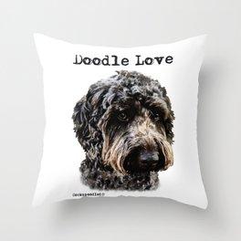 Doodle Love Throw Pillow