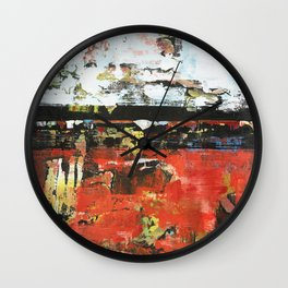 Jacksonville Orange Abstract Painting Wall Clock