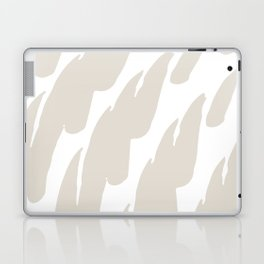Neutral Abstract Brush Marks Laptop & iPad Skin