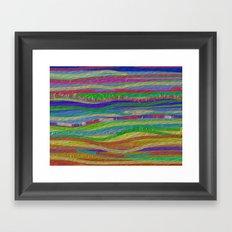 Stripes Along Framed Art Print