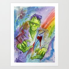 Friend Frankenstein Art Print