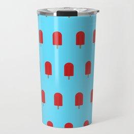 Red Popsicles - Blue Background Travel Mug