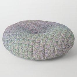 Silver Rainbow Mermaid Scales Floor Pillow