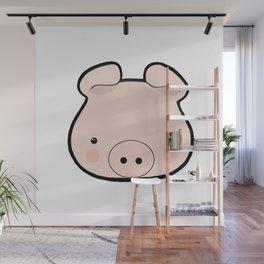 Piggy Kawaii Wall Mural