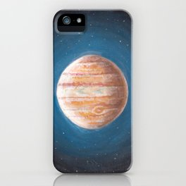 Solar System: Jupiter the Gas Giant & some of the Moons iPhone Case