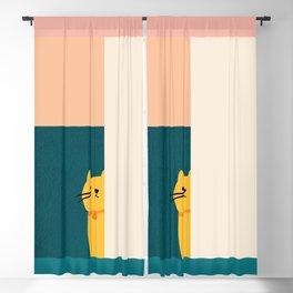 Little_Cat_Cute_Minimalism Blackout Curtain