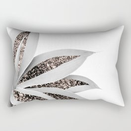 Agave Finesse Glitter Glam #1 #tropical #decor #art #society6 Rectangular Pillow