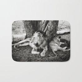 African Safari Lion Bath Mat