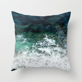 Pacific Ocean Colors Throw Pillow