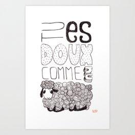 Tu es doux comme un agneau Art Print