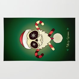 Santa skull Rug