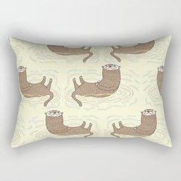 Otter Yellow Pattern Rectangular Pillow