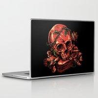 art history Laptop & iPad Skins featuring Dark history by barmalisiRTB
